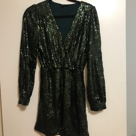 Honey Punch Dresses & Skirts - Green Sequin Dress